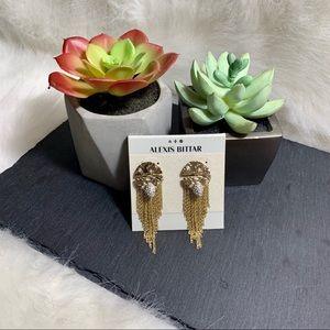 [Alexis Bittar]🧸Hammered Gold Tassel Earrings